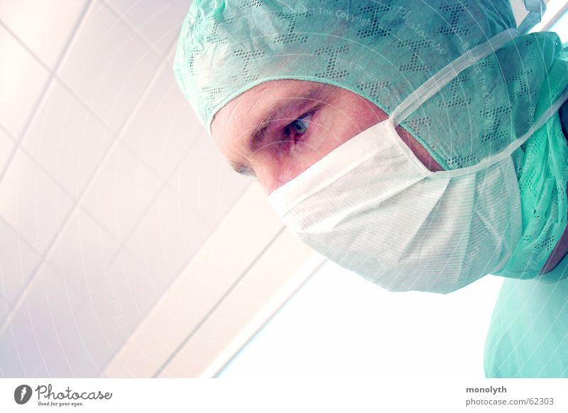 Im OP Gesundheit Hoffnung Gesundheitswesen Arzt Mundschutz Operation Niere Chirurg