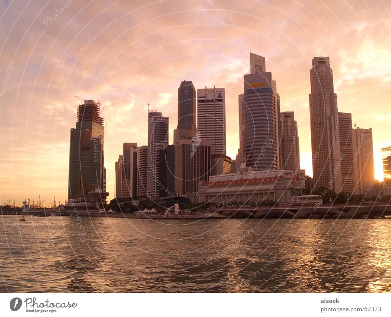 *singapore sunset* Hochhaus Asien Skyline Singapore