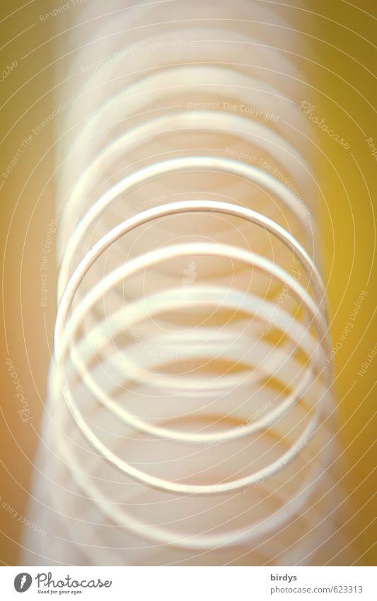 Spiralismo Metall Spirale Kreis ästhetisch außergewöhnlich elegant rund gelb grün weiß Kreativität Surrealismus Symmetrie Unendlichkeit Farbfoto Außenaufnahme