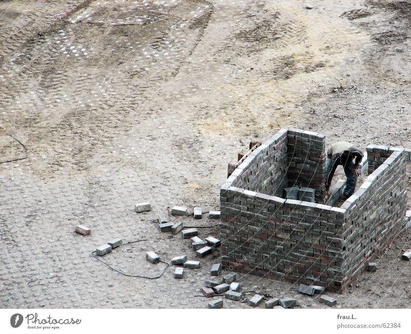 ein Haus bauen Wand Spielen Stein Zukunft Kreativität üben