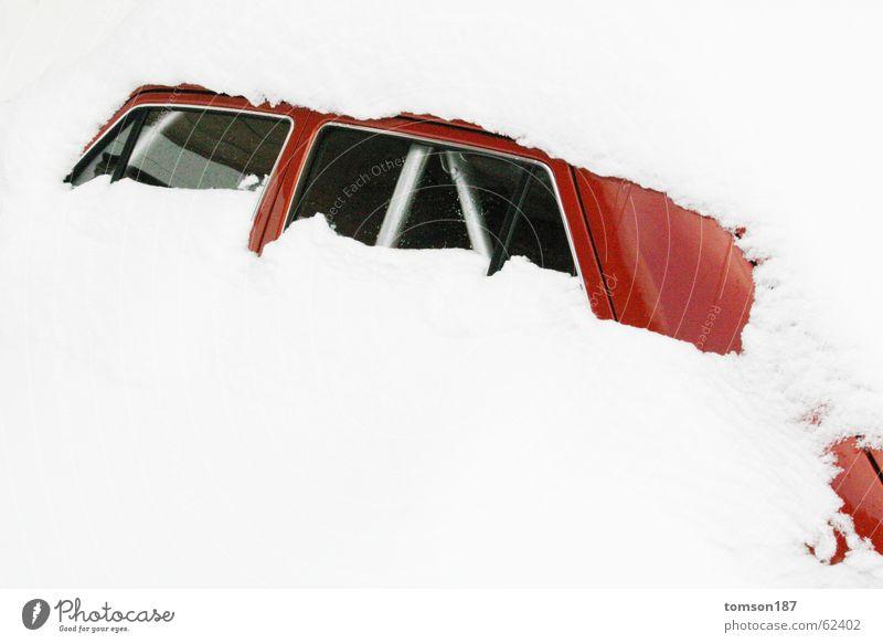 keine zeit schnee zu räumen Winter untergehen kalt Schnee PKW