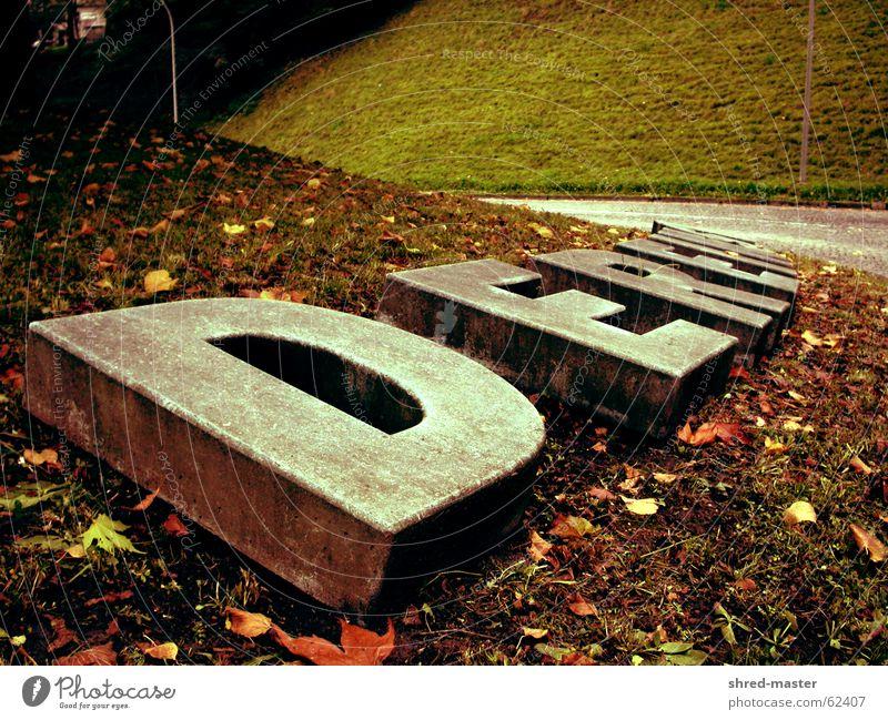 Dereinst im Herbst Buchstaben