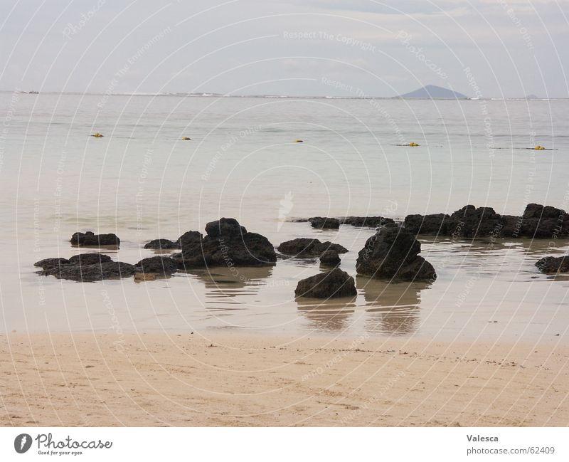 Strand Mauritius Wasser Meer Ferien & Urlaub & Reisen Stein