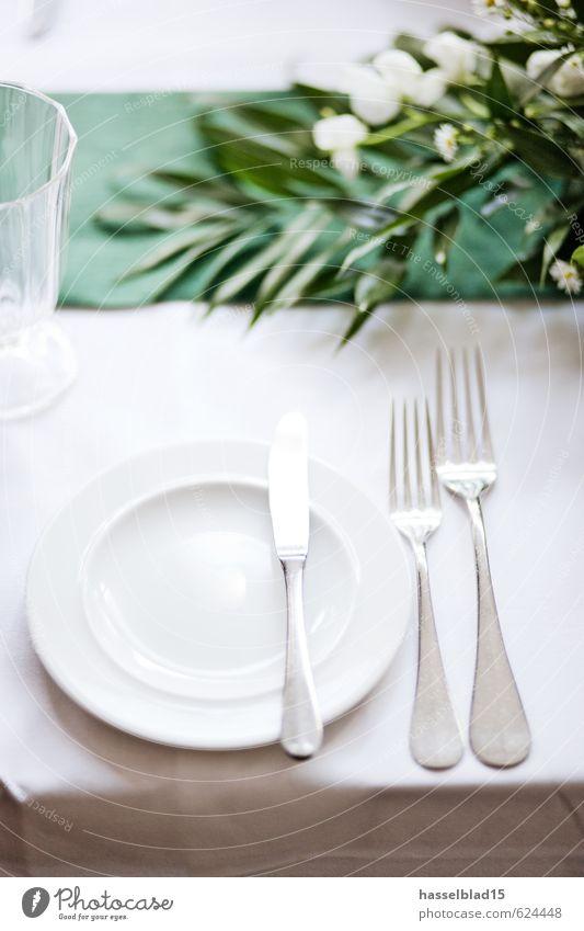 3-Gang Ernährung Essen Abendessen Festessen Geschirr Teller Besteck Messer Gabel Lifestyle Reichtum Stil Freude Gesunde Ernährung Wohlgefühl Zufriedenheit