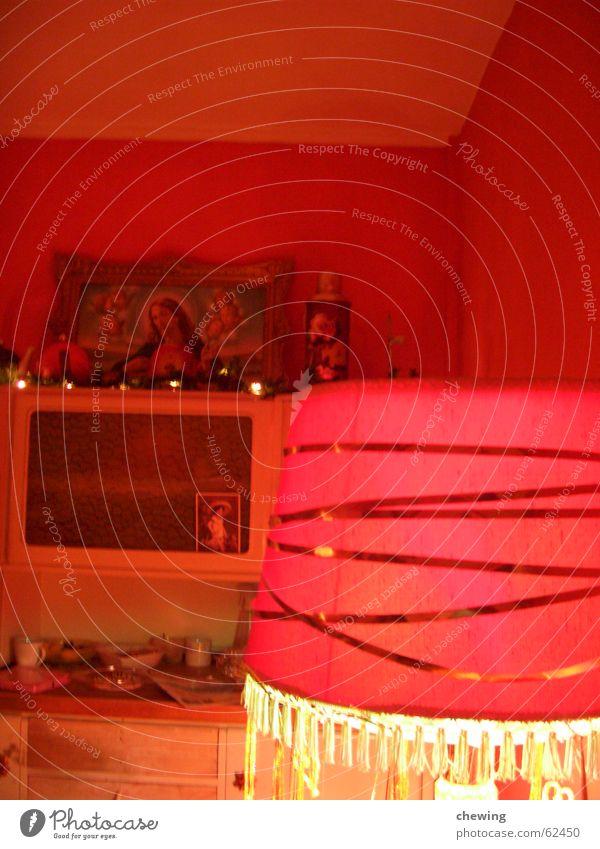 roter raum Lampe Jesus Christus Schrank Licht Stimmung verrückt Kunst Kunsthandwerk Weihnachten & Advent