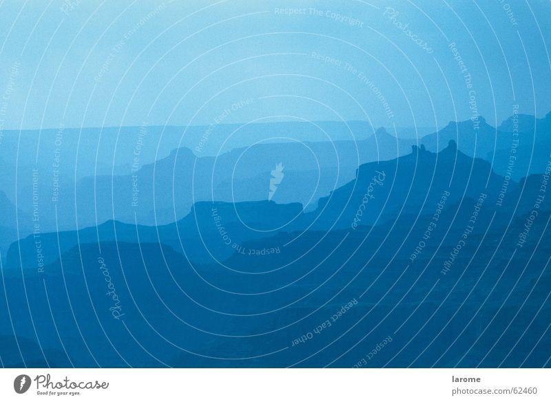 blue Natur blau Ferne Berge u. Gebirge Hintergrundbild USA Nordamerika