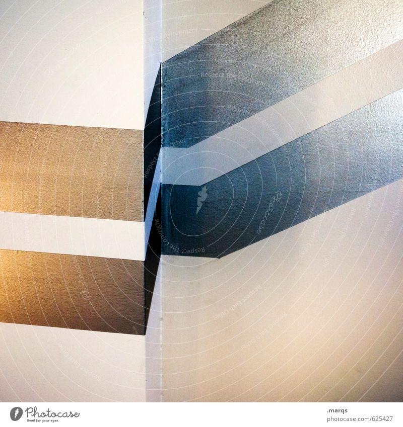 ZickZack Wand Innenarchitektur Architektur Mauer Stil außergewöhnlich Lifestyle elegant Design Perspektive Streifen einzigartig trendy eckig