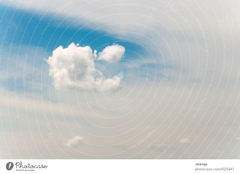 Heiter Freiheit Umwelt Natur Urelemente Luft Himmel Wolken Sommer Klima Wetter Schönes Wetter Zeichen hell schön Stimmung Einsamkeit Erholung Schweben