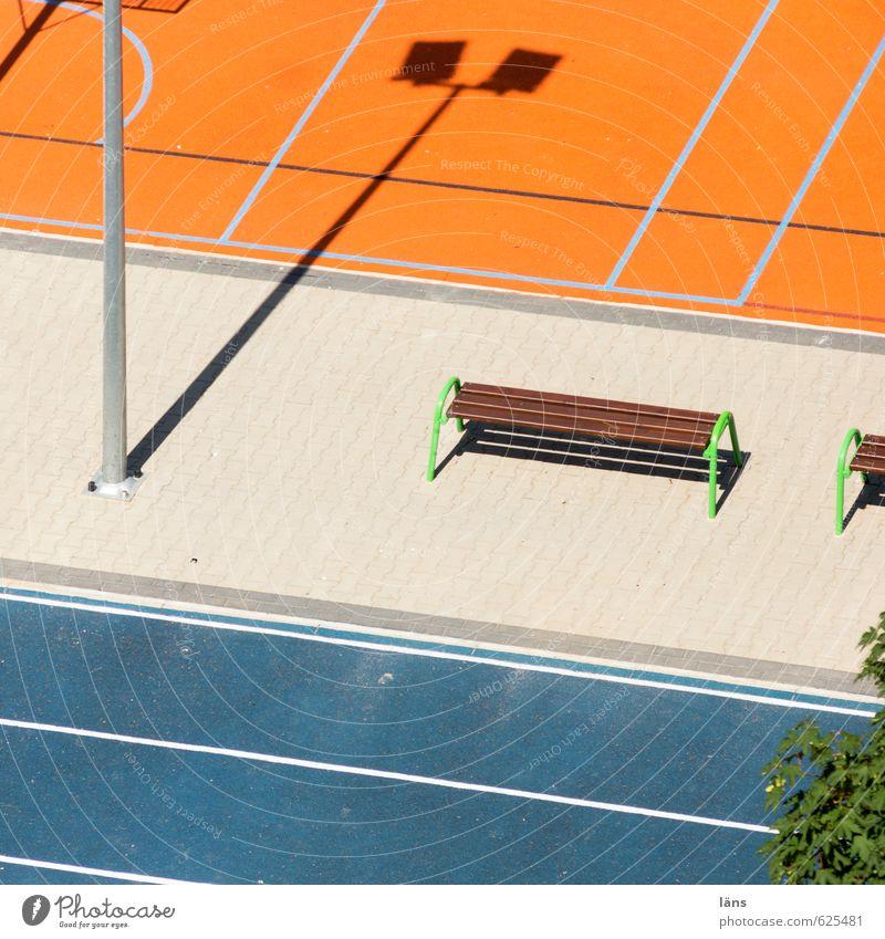 play.now Ferien & Urlaub & Reisen blau Sommer Sonne Bewegung Sport Spielen Linie Freizeit & Hobby orange Erfolg Fitness Bank Spielfeld Sport-Training Konkurrenz