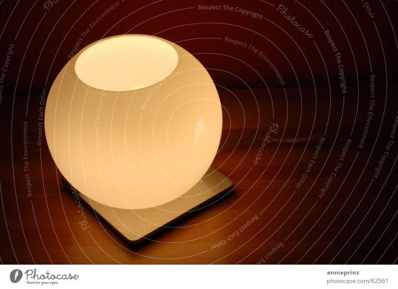 Nachttischmond ruhig Lampe Holz Metall Glas Energiewirtschaft Elektrizität Mond gemütlich Geborgenheit