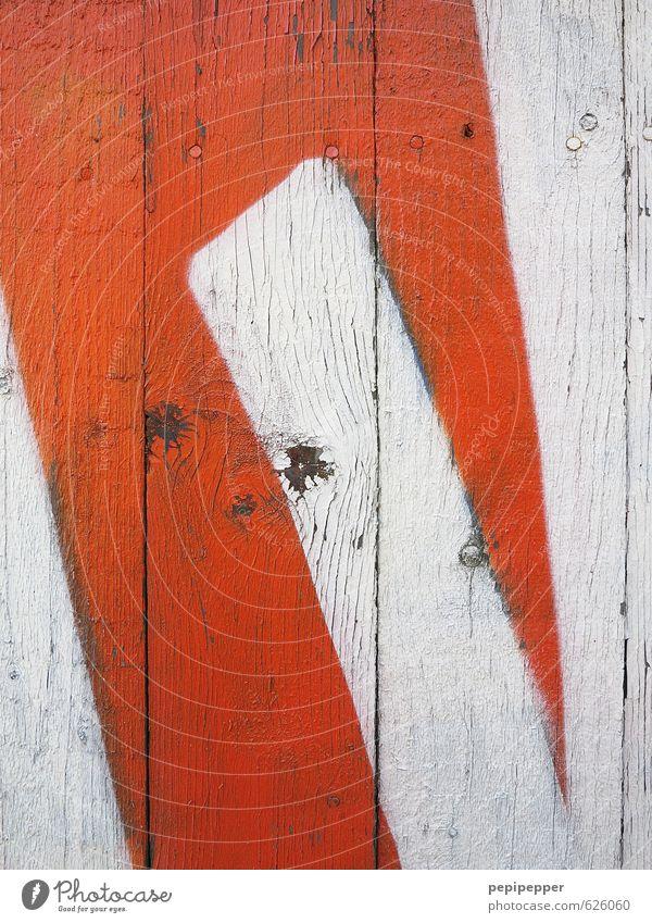 Holzdruck weiß Farbe Graffiti Wand Mauer Holz Kunst Fassade Freizeit & Hobby orange Schriftzeichen Kreativität Ziffern & Zahlen Zeichen Kultur Jugendkultur