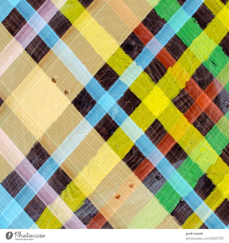 Latte Muster Stil Subkultur Dekoration & Verzierung Holz Kreuz Streifen eckig Design Kreativität Netzwerk Irritation Holzbrett Straßenkunst Doppelbelichtung