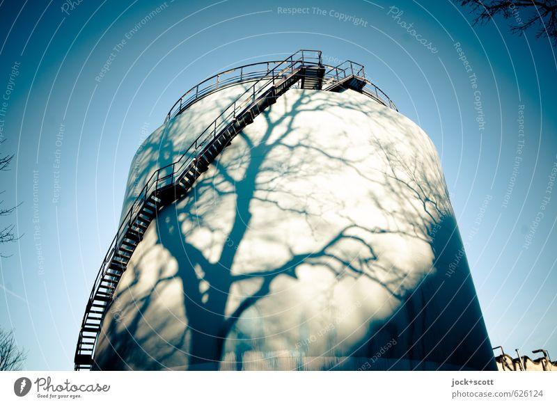 natürlich auftanken Baum Winter Wärme Linie Energiewirtschaft Treppe Kraft leuchten Technik & Technologie Schönes Wetter Wandel & Veränderung rein