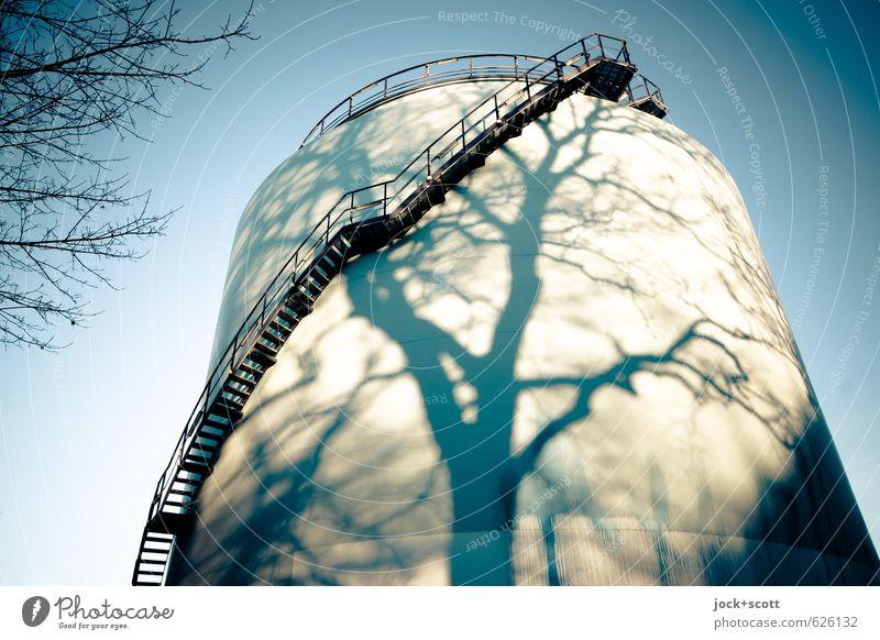 wieder natürlich auftanken Baum Winter Umwelt Wärme Linie Energiewirtschaft Kraft leuchten Technik & Technologie Schönes Wetter Wandel & Veränderung rein