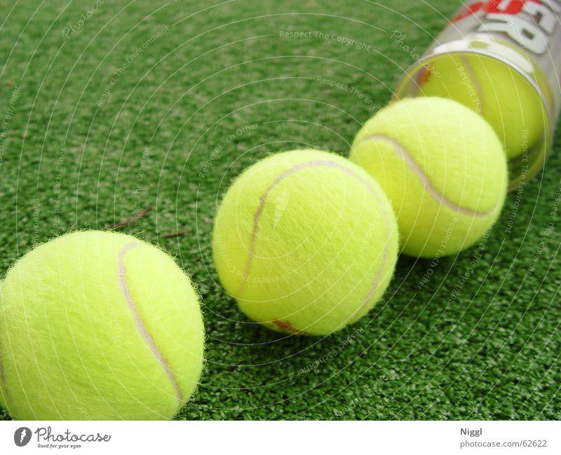 Serving for Match Tennis Tennisball gelb grün Wimbledon Filz Gras Rasen Sport Ball niggl