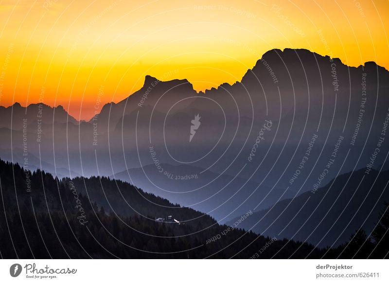 Sonnenuntergang am Königssee mit Blick auf den Watzmann Natur Sommer Landschaft Berge u. Gebirge Umwelt Gefühle Glück Zufriedenheit Tourismus ästhetisch hoch