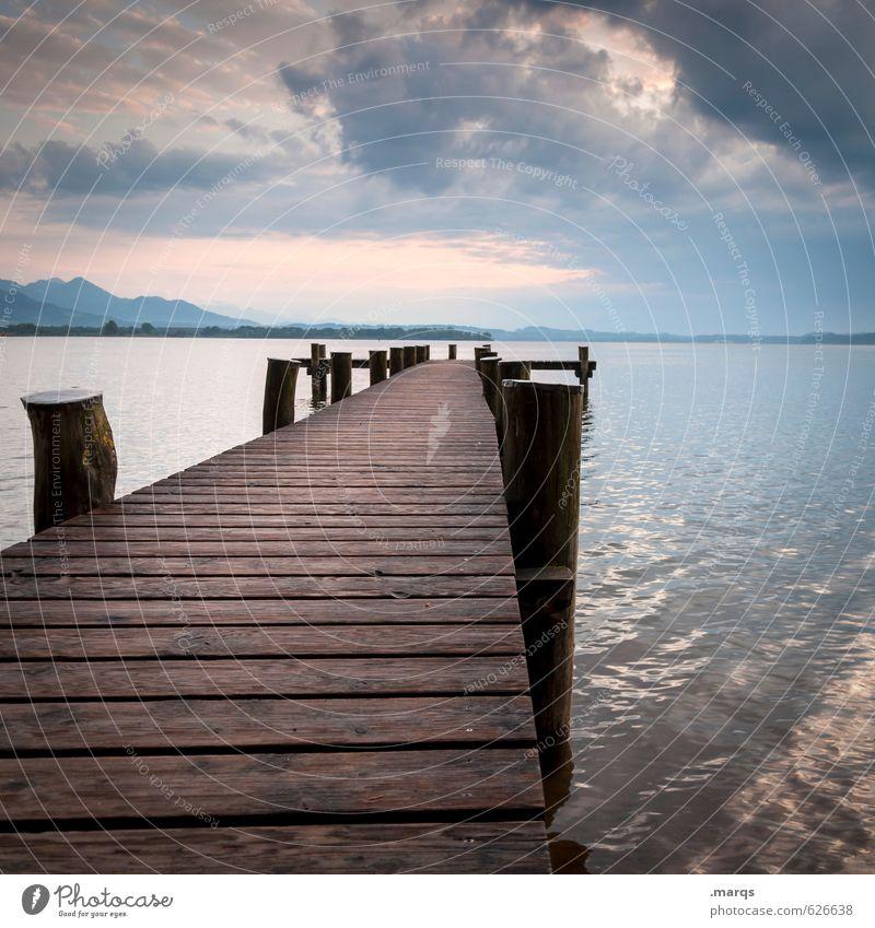Flucht nach vorn Himmel Natur Ferien & Urlaub & Reisen schön Sommer Erholung Landschaft Wolken Ferne Berge u. Gebirge Küste Freiheit See Horizont Lifestyle