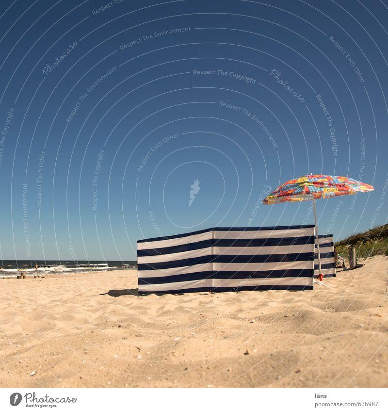 Sommer Residenz Himmel Ferien & Urlaub & Reisen Wasser Sonne Meer Erholung ruhig Strand Küste Schwimmen & Baden Sand Zufriedenheit Tourismus Schönes Wetter