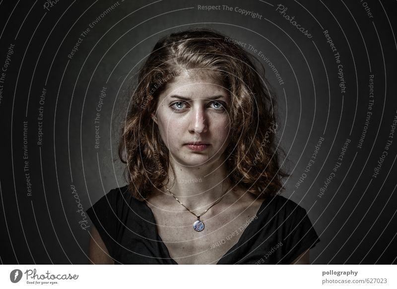 be proud of yourself (4) Mensch feminin Junge Frau Jugendliche Erwachsene Leben Kopf 1 18-30 Jahre Haare & Frisuren langhaarig Locken Stimmung selbstbewußt