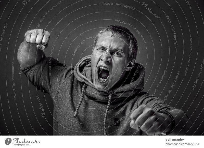be proud of yourself (10) Mensch Jugendliche Mann 18-30 Jahre Junger Mann Erwachsene Leben Gefühle Kopf Stimmung maskulin Körper Kraft Wut Mut Gewalt