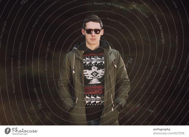 Kristof (8) Mensch maskulin Junger Mann Jugendliche Erwachsene Leben Körper 1 18-30 Jahre Natur Herbst Winter Schönes Wetter Wald Mode Pullover Jacke