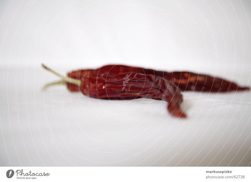 getrocknete schärfe rot Scharfer Geschmack Kräuter & Gewürze Gemüse trocken Hülle Peperoni Würzig