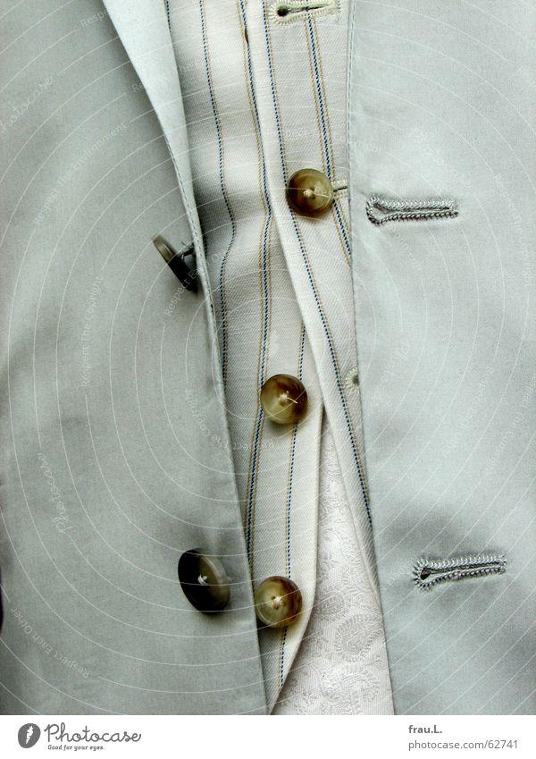 übereinander Knopfloch Weste Knöpfe Seide Herrenmode unordentlich Jacke Hemd Anzug Streifen Geschwindigkeit schick Mann Bekleidung Dinge Seil Mode
