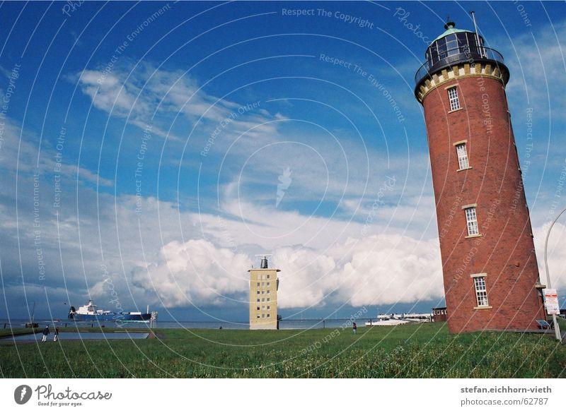 Cuxhaven Leuchtturm Wasserfahrzeug elbmündung