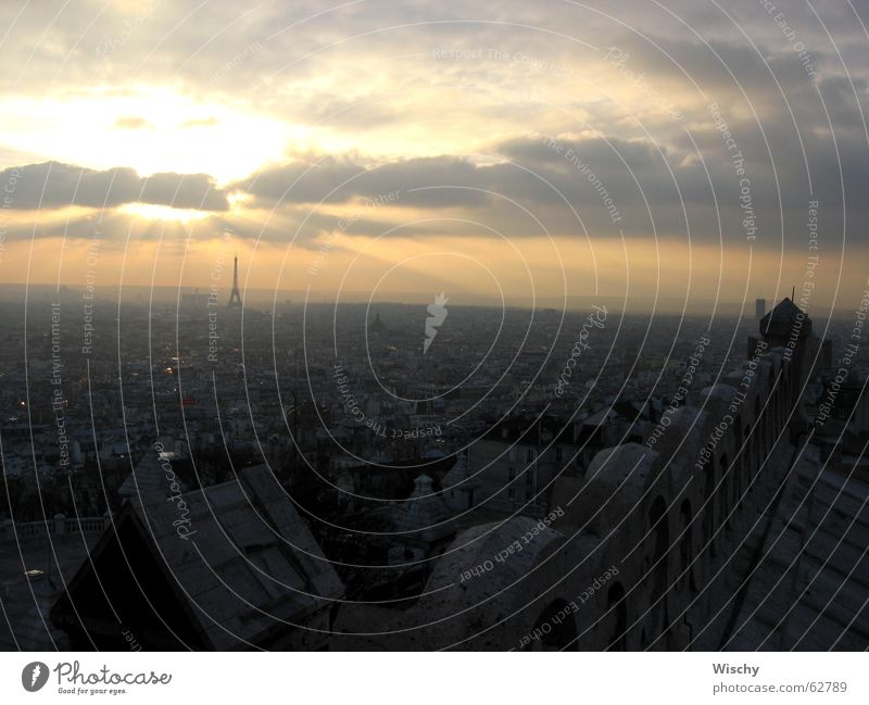 Sonnenuntergang über Paris Horizont Abend effeilturm