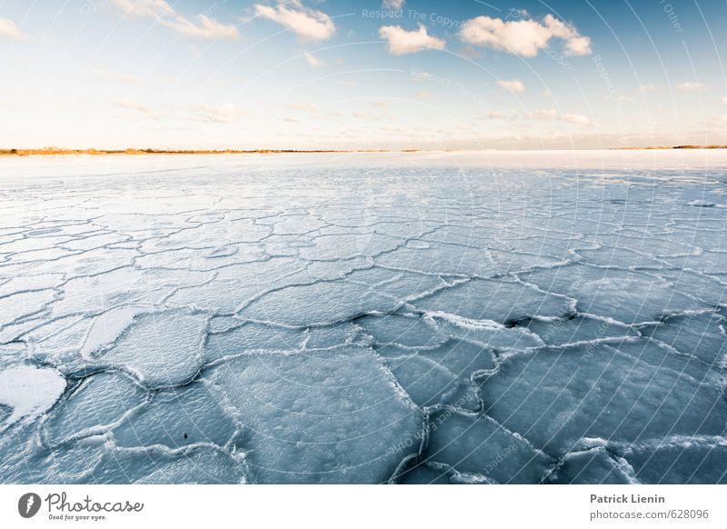 Ice Age Wellness Wohlgefühl Zufriedenheit ruhig Meditation Umwelt Natur Landschaft Urelemente Wasser Himmel Wolken Klima Klimawandel Wetter Eis Frost Schnee
