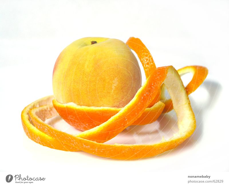 Orangenhaut orange Frucht Haut Pfirsich Orangenschale