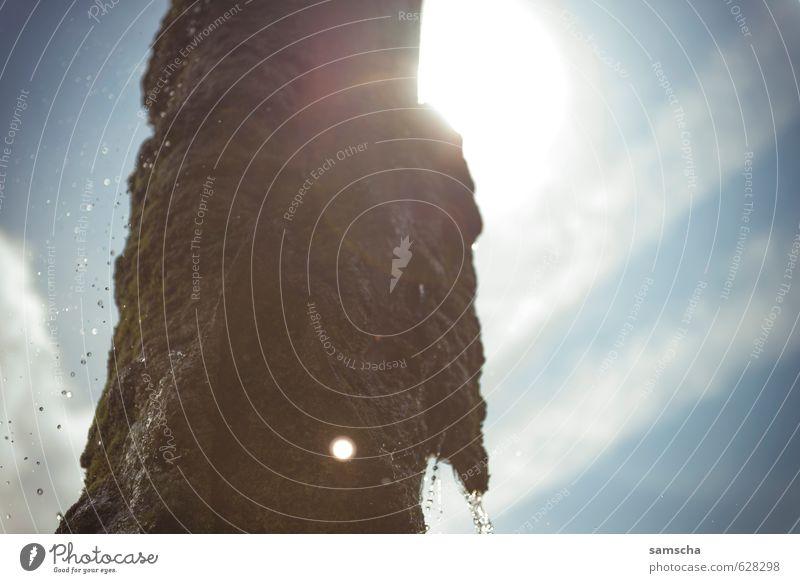 Sommersonne Ferien & Urlaub & Reisen Ausflug Abenteuer Sommerurlaub Sonne Sonnenbad Kunst Kunstwerk Skulptur Erholung genießen leuchten heiß hell nass schön