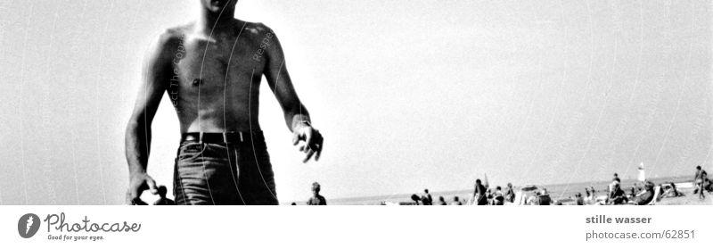 VOR JAHREN Strand schwarz weiß 19 Mensch Körper Wasser was willst du
