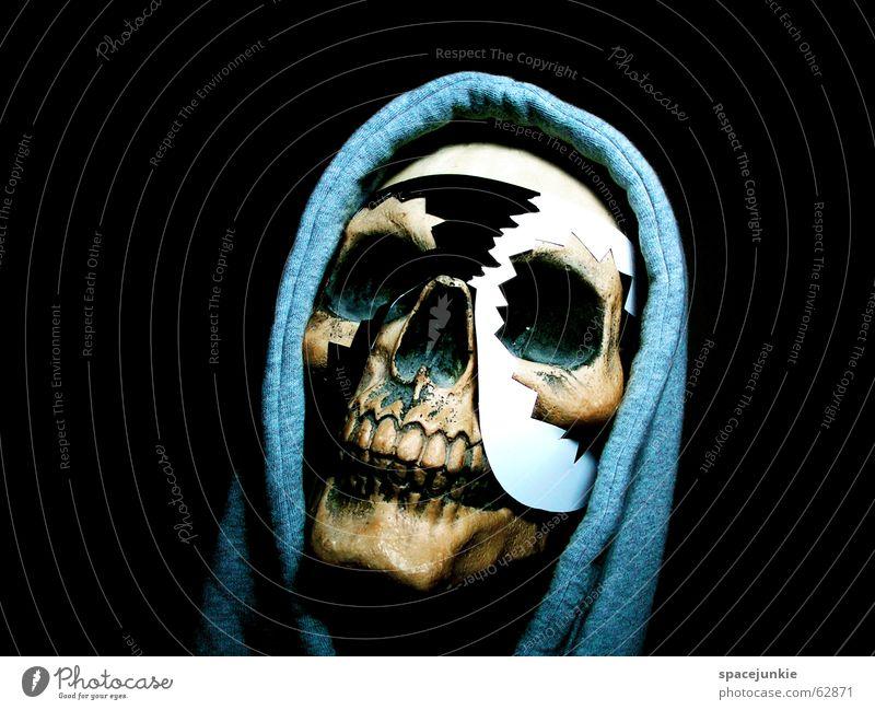 Voodoo (2) weiß schwarz dunkel Kunst verrückt Afrika Maske Freak Tradition Kapuze Zauberei u. Magie Skelett Schädel Zauberer Kapuzenpullover besessen