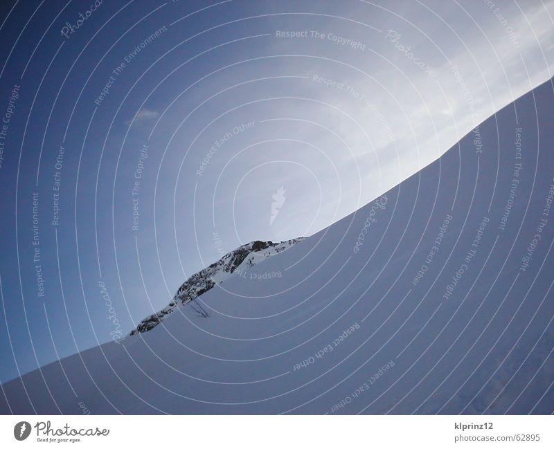 blue and white blau Schnee Alpen