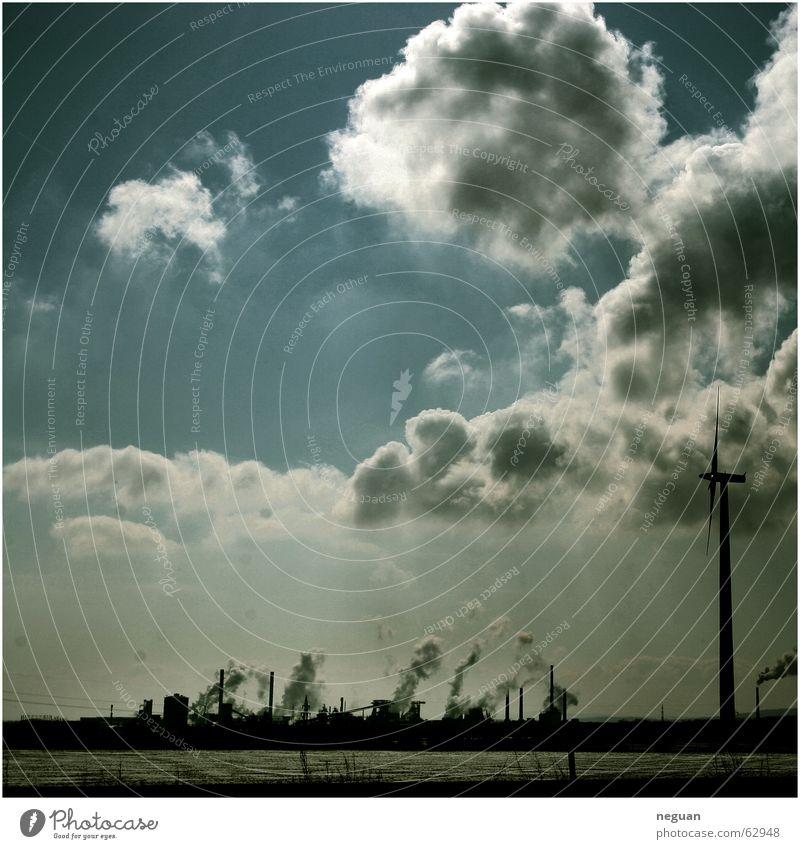 himmels_landschaft Wolken Sommer Kunstwerk Windkraftanlage Himmel lanschaft