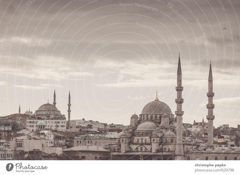 Istanbul Skyline Ferien & Urlaub & Reisen Tourismus Sightseeing Städtereise Türkei Stadt Stadtzentrum Altstadt Kirche Bauwerk Gebäude Moschee Sehenswürdigkeit