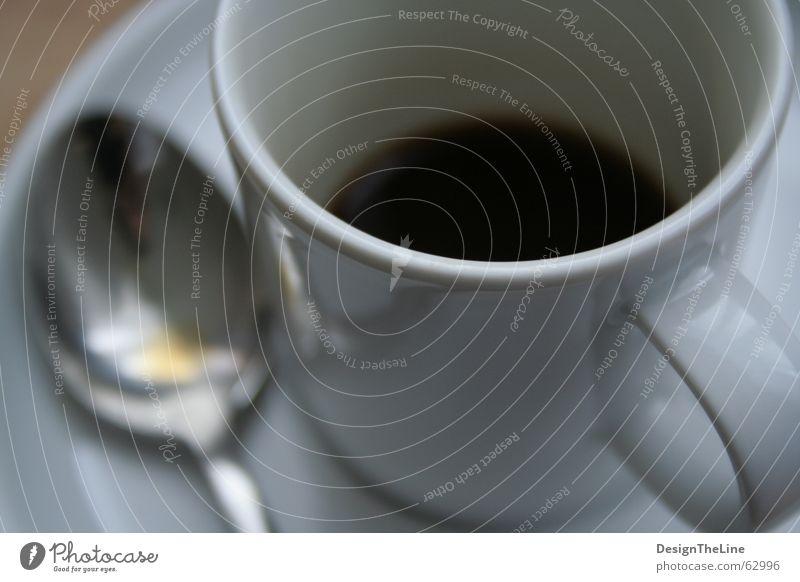There's no life before coffee Morgen alt weiß schwarz Wärme braun hell dreckig klein Beginn Geschwindigkeit leer Energiewirtschaft Kaffee süß Kultur