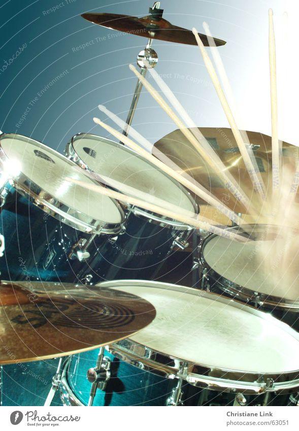 Schlagzeug Bewegung Musik hören Musikinstrument Schnur Rockmusik Stock Ton laut Schlagzeug