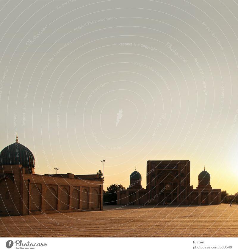 Asiatischer Sommer Ferien & Urlaub & Reisen Tourismus Ferne Freiheit Sightseeing Städtereise Wolkenloser Himmel Horizont Sonnenaufgang Sonnenuntergang