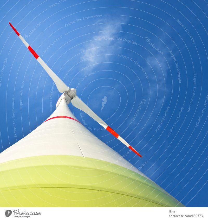 Windkraft l regenerativ Himmel Energie Windkraftanlage Rotor Erneuerbare Energie