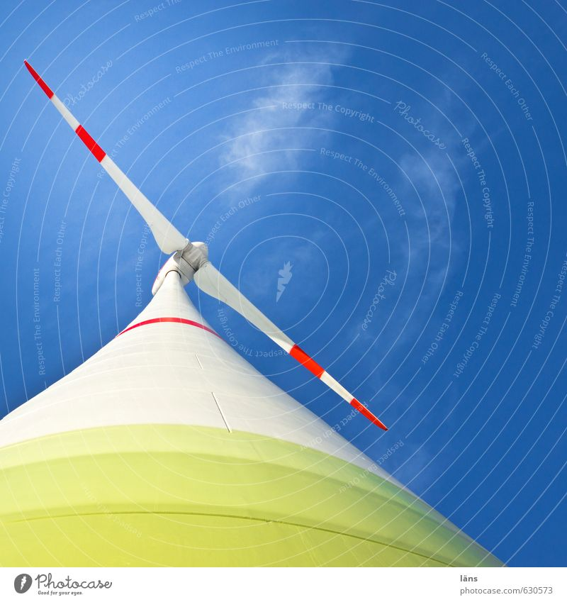 Windkraft l regenerativ Windkraftanlage Himmel Erneuerbare Energie Rotor