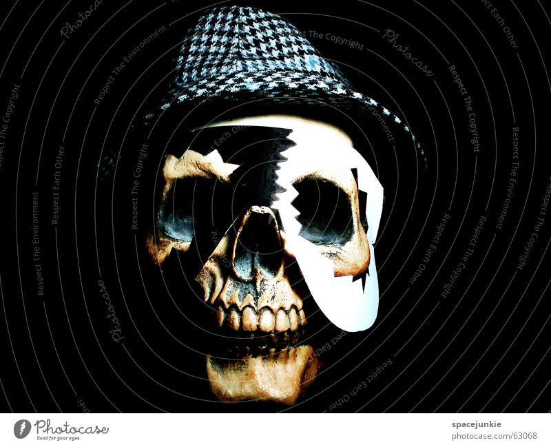 Voodoo (5) weiß schwarz dunkel Kunst verrückt Afrika Maske Hut Freak Tradition Zauberei u. Magie Skelett Schädel Zauberer Bekleidung besessen