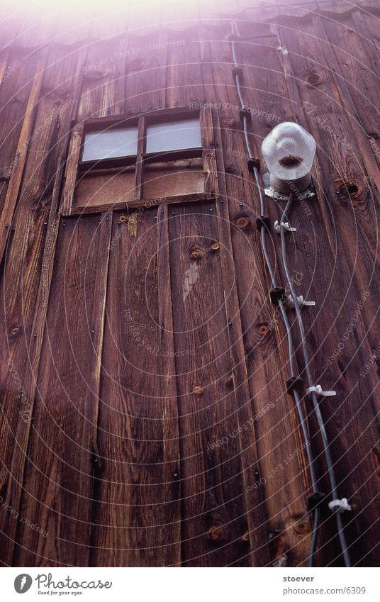 Außenbeleuchtung Fenster Holz Europa Kabel Polen Fluß Wisla