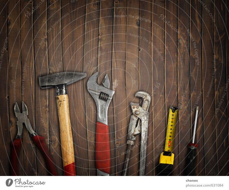 Werkzeuge Arbeit & Erwerbstätigkeit Industrie Hammer Mann Erwachsene Vater Menschengruppe Metall Stahl dunkel braun rot Idee Hintergrund Krallen Entwurf Papa