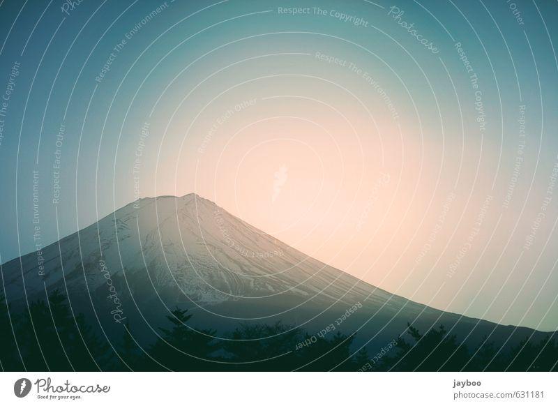 Mount Fuji Tourismus Ausflug Abenteuer Ferne Freiheit Expedition Berge u. Gebirge wandern Umwelt Natur Landschaft Pflanze Luft Himmel Wolkenloser Himmel