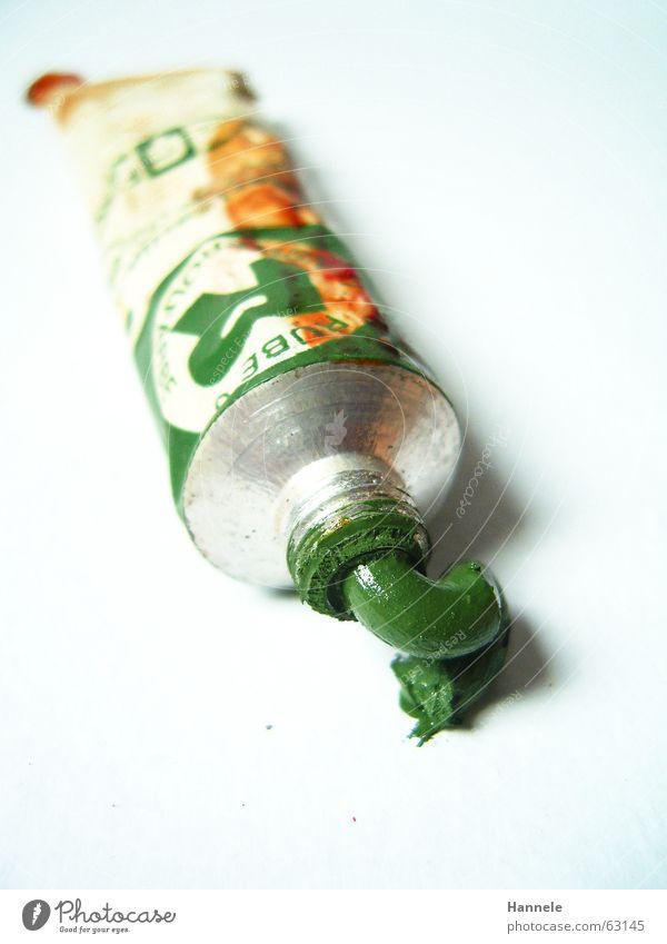opas farbe 4 alt weiß grün Farbe Kunst streichen Erdöl Fleck London Underground gebraucht England Ölfarbe