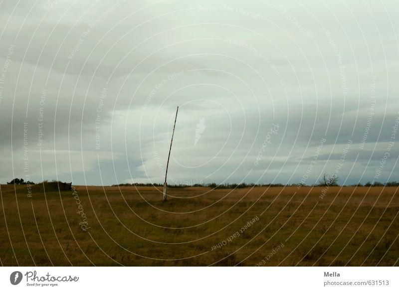 Grenzöffnung Himmel Natur Landschaft Wolken Ferne Umwelt Wiese grau Freiheit Erde offen trist frei Vergänglichkeit Vergangenheit Verfall