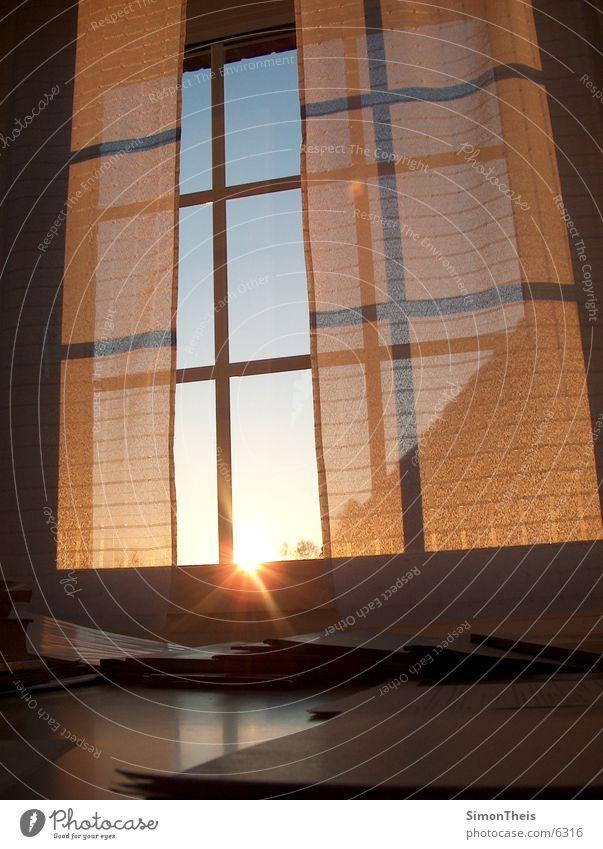 morgenstund Fenster Papier Dinge Aktenordner Sonnenaufgang