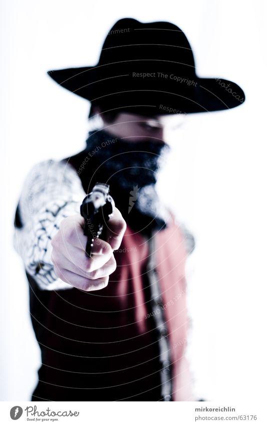 The Cowboy 1 Junge Mann Pistole Gewehr wild Krimineller sherif revolover Hut bigway Westen Gewalt